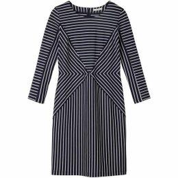 Sandwich Contrast Stripe Dress