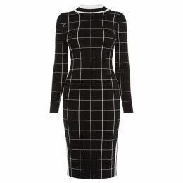Karen Millen Checked Bodycon Dress