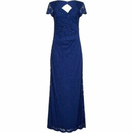 Adrianna Papell Stretch Lace Long Dress