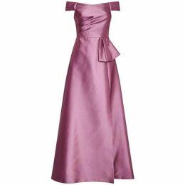 Adrianna Papell Mikado Long Dress
