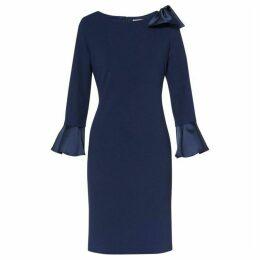 Gina Bacconi Adrita Moss Crepe Dress