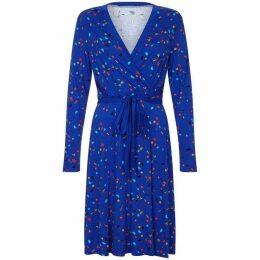 Yumi Abstract Printed Jersey Wrap Dress