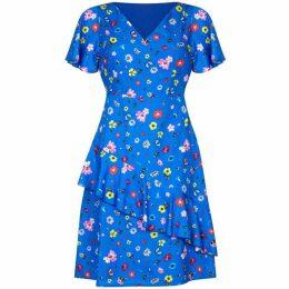 Yumi Disty Floral Print Skater Dress