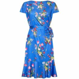 Yumi Curves Bouquet Print Plus Size Slinky Jersey Dress