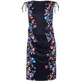Yumi Floral Border Sleeveless Bodycon Dress