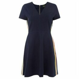 Juicy Couture Flirty Ponte Short Sleeve Dress With Side Stripe