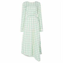Sportmax Code Minnie long sleeve chacked dress