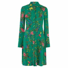 Warehouse Floral Mini Shirt Dress