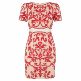 Frock and Frill Short sleeved shift dress with embroidery