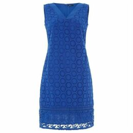 Roman Originals Embroidered Cotton and Lace Shift Dress