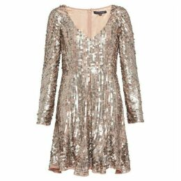 French Connection Aurelie Sequin Long Sleeve V Neck Dress