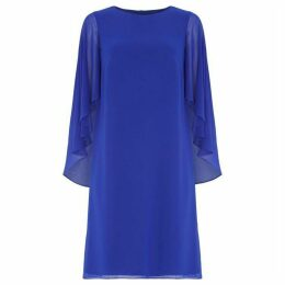 Roman Originals Chiffon Cape Sleeve Shift Dress