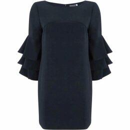 Mint Velvet Ink Ruffle Sleeve Dress