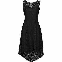 Wallis Black High Low Geo Lace Dress