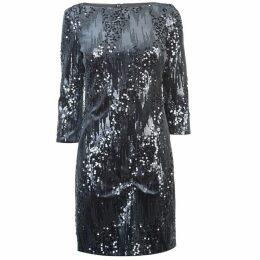 Eliza J Velvet sequin shift dress