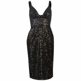Jill Jill Stuart Sleeveless V neck sequin dress