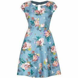 Yumi Floral Patterned Jacquard Dress