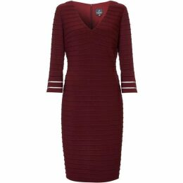 Adrianna Papell Flared Sleeve Pintuck Dress