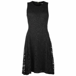 DKNY Sleeveless lace fit And flare dress