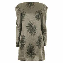 Victoria by Victoria Beckham Tuck shoulder shift dress