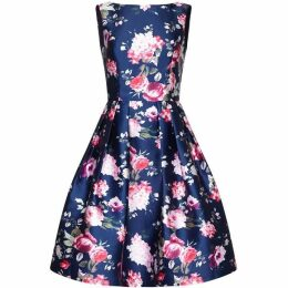 Mela Floral Print Skater Prom Dress