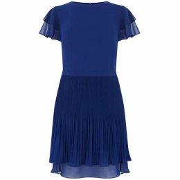 Oasis Chiffon Pleated Skater Dress