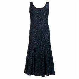 Chesca Plus Size Navy Lace Cornelli Dress