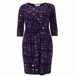Studio 8 Plus Size Julie grid dress