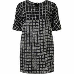 Studio 8 Plus Size Tamara check tunic dress