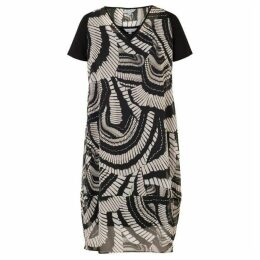 Chesca Short Sleeve Printed Chiffon Dress