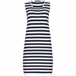 Winser London Cotton Textured Stripe Dress