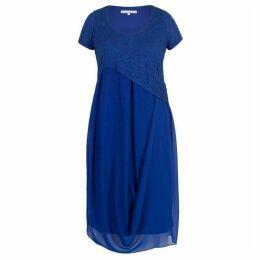 Chesca Bubble Bodice Chiffon Drape Dress