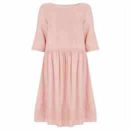 Nougat Poppy Linen Dress