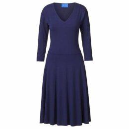 Winser London V Neck Flared Jersey Dress