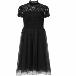 Chi Chi Lace High Neck Skater Dress