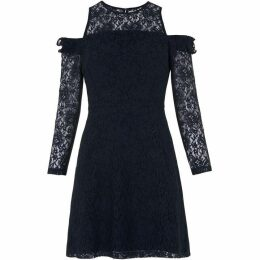 Whistles Elis Cold Shoulder Lace Dress