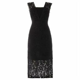 Adrianna Papell Lace panel shift dress