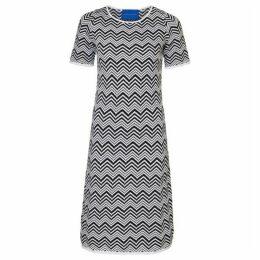 Winser London Striped Cotton Chevron Dress