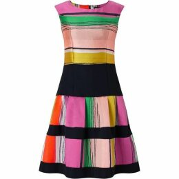James Lakeland Stripe Fit And Flare Dress