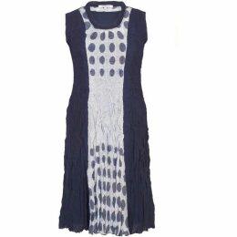 Chesca Spot Trim Crush Pleat Dress