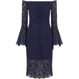Bardot Plunge Lace Dress