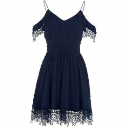 Whistles Lace Cold Shoulder Dress