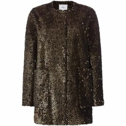 Suncoo Elvie Long Sleeved Sequin Textured Dress Coat
