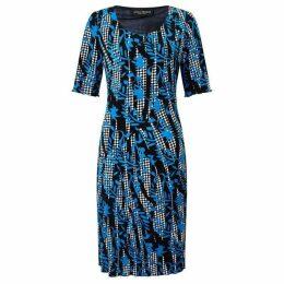 James Lakeland Printed Cut Pleat Dress