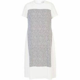 Chesca Crepe Dress with Printed Panel