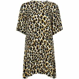 Samsoe and Samsoe Leopard print dropped waist dress