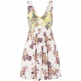 Free People Baby It`s You Printed Mini Dress