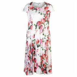 Chesca Floral Print Satin Dress