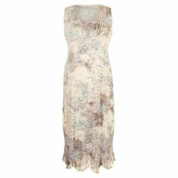 Chesca Lace Trim Crush Pleat Dress