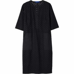 Winser London Pure Cotton Broderie Anglaise Shift Dress